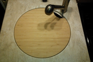 Bamboo sink cover